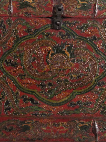Tibetan Dragon Chest