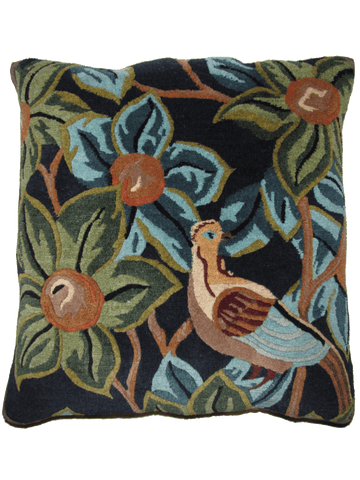 Bird with Fruits navy blue