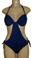 Push up monokini. Halter neck monokini. Navy monokini swimsuits