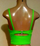 Cropped tankini with underwire push up support