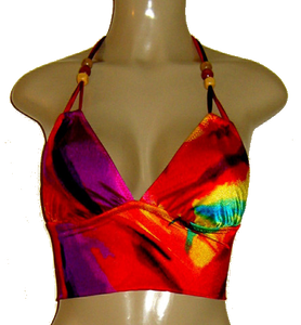 Double string cropped tankini top
