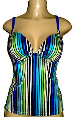 Push up tankini with open back