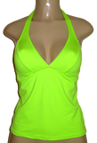 Seamed Halter tankini top. High back tankini tops.