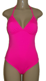 Triangle top one piece swimsuit. Pink one piece
