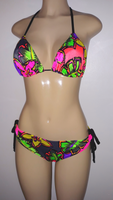 Triangle top bikini and tie hip side bottoms