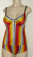 Women's custom made tankini with underwire support and Pin up bottom