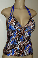 Double string tankini swimsuit top