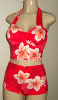 Pin up tube top and Pin up high waisted bottom