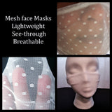 Mesh face mask coverings