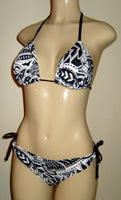 Triangle top and ruched rear bikini