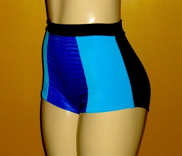 Pin up color block swimwear bottoms