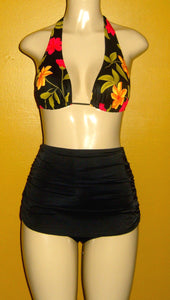 Sliding Halter top and Skirt Overlay Bottom