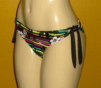 Adjustable tie side keyhole bikini bottoms
