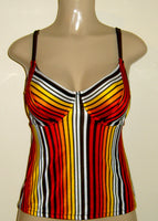 High Back Tankini with supportive underwire top.