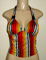 Gathered Halter Tankini Top