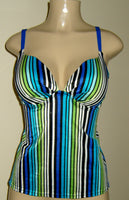 Custom tankinis. Push up tankini top with slightly padded cup and open back.