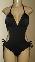 Black Tie back monokini swimsuit