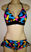 trendy bikini top and adjustable bikini bottom
