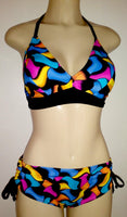 Trendy swimwear top and bombshell adjustable swimwear bottom