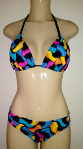 Triangle top and timeless bikini bottom