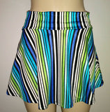 High waisted banded skirt bottoms. Ladies plus size skirt swimwear