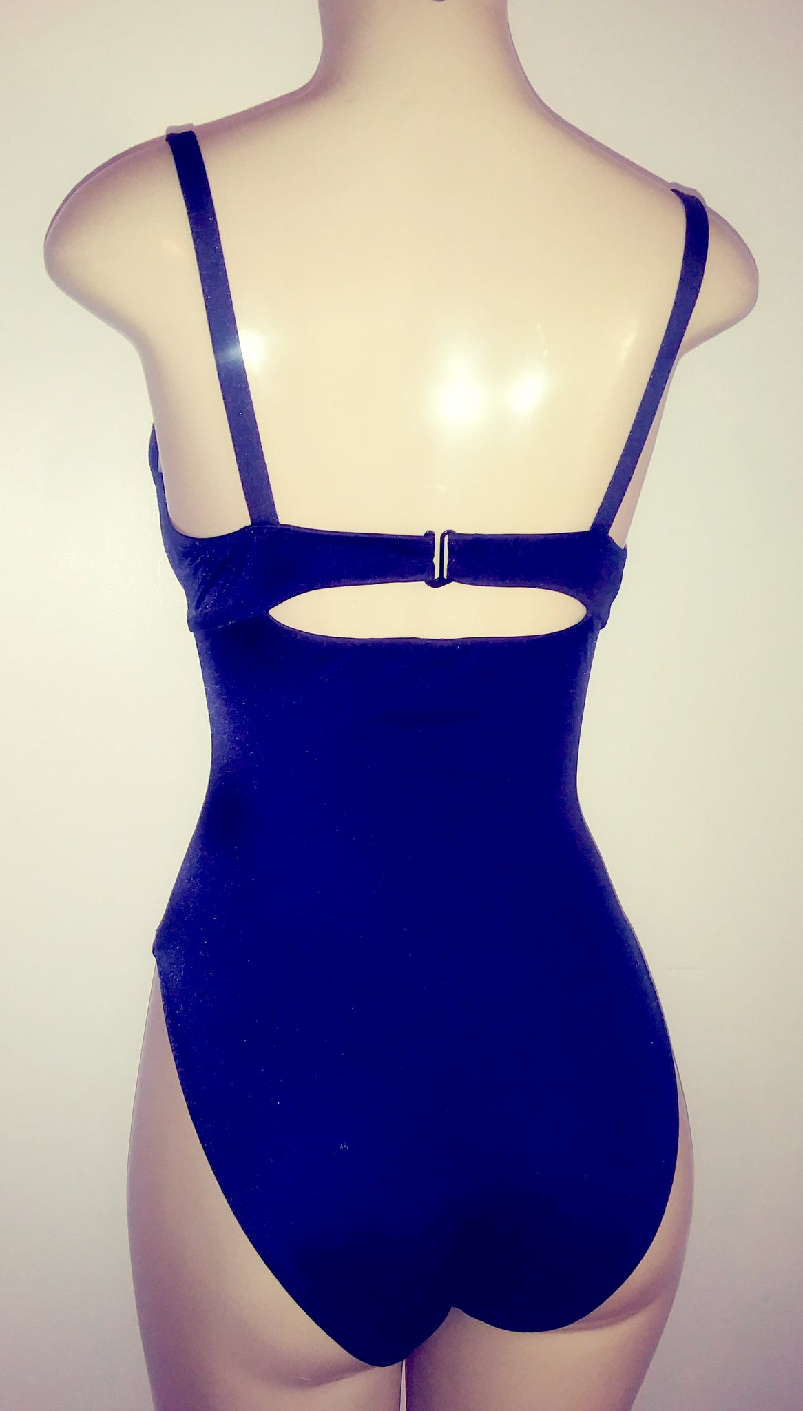 53a61955e5 ... High back one piece swimsuit with push up top; Underwire supportive  push up swimsuit