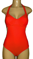 halter underwire one piece