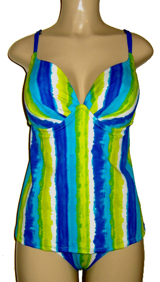 Push up tankini with open back and Timeless Bottom
