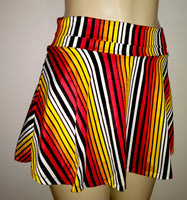 Skirted swimwear bottoms. Flared skirt swim bottoms