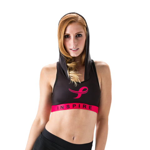 Inspire Performance Hooded Breast Cancer Sports Bra