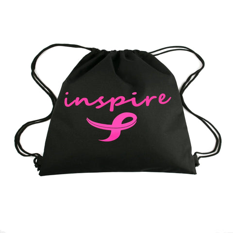 Inspire Breast Cancer Awareness Drawstring Bag