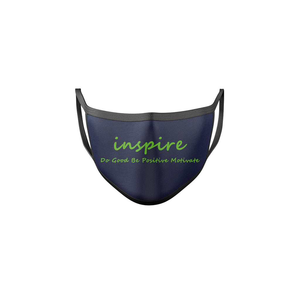 Inspire Seattle Blue & Green Reusable Mask