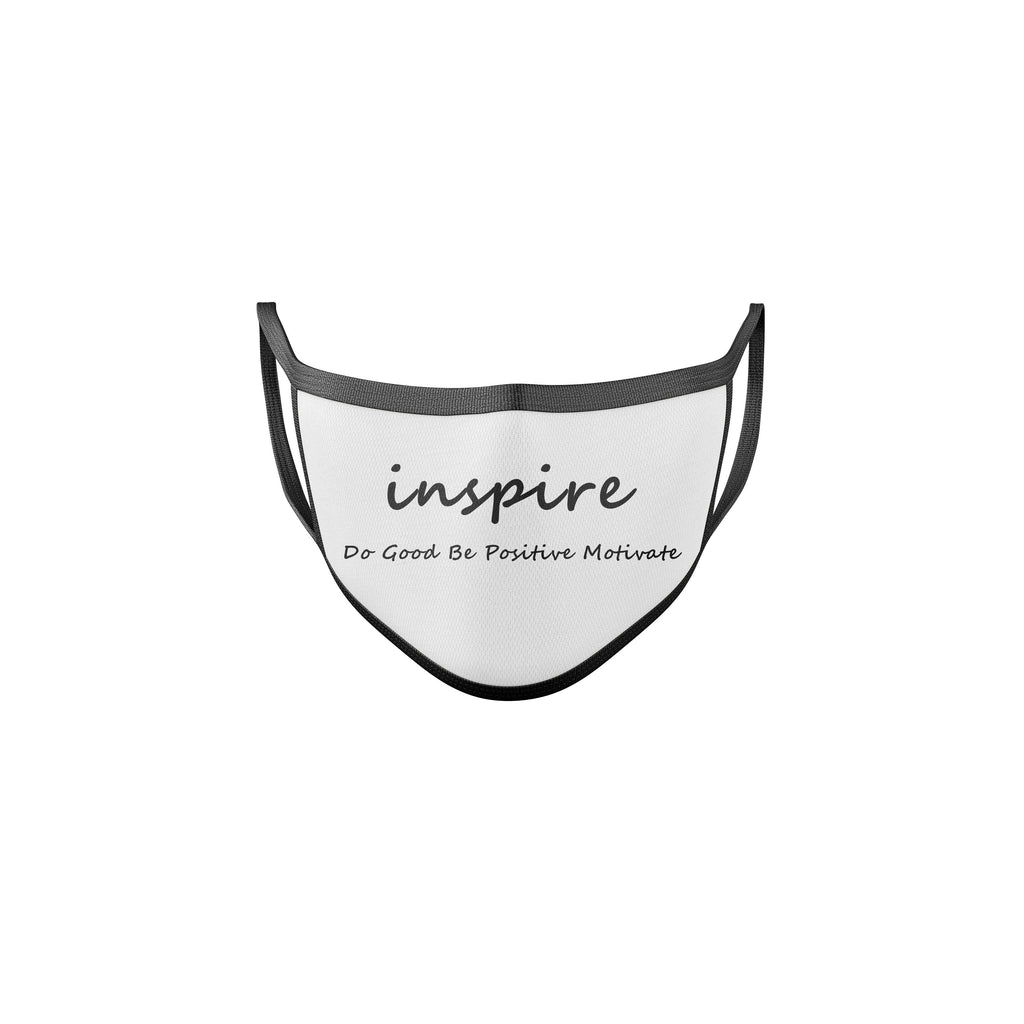 Inspire White & Black Reusable Mask