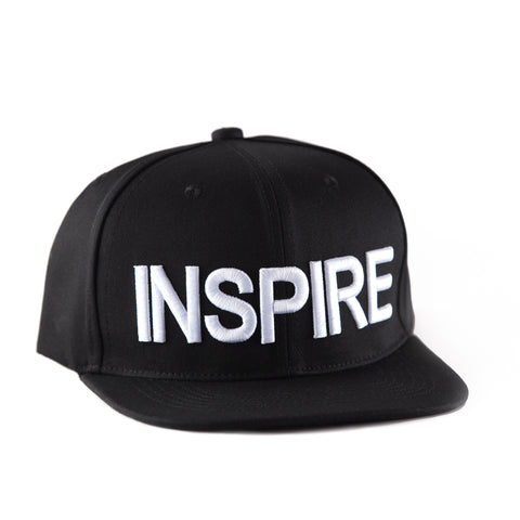 Inspire Black & White Snapback Hat (Back Order)