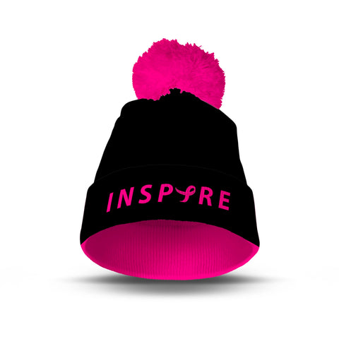 Inspire Breast Cancer Awareness Pom Pom Beanie