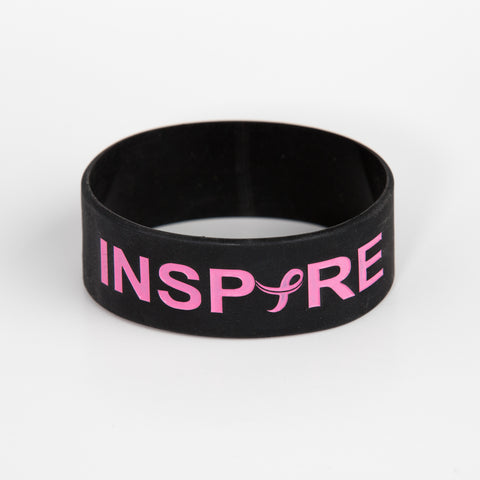 Breast Cancer Awareness Inspire Silicone Bracelet