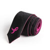 Breast Cancer Awareness Diamond Skinny Reversible Tie