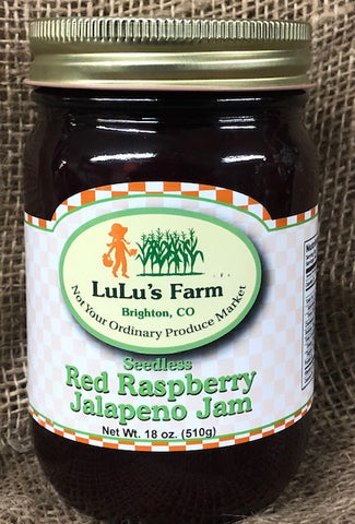 Red Raspberry Jalapeno Jam- Seedless