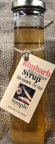 Rhubarb Wild Ginger Syrup