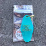 I Amaze And Astonish Key Tag in Translucent Turquoise