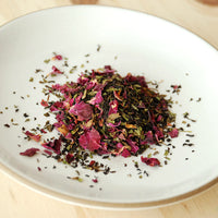 Organic Assam Black Tea with Spearmint and Red Rose Petals