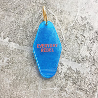 Seconds Sale: Everyday Rebel Key Tag in Translucent Blue