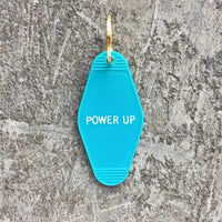 Power Up Key Tag in Turquoise Blue