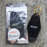 Key Tag - Resist in Black