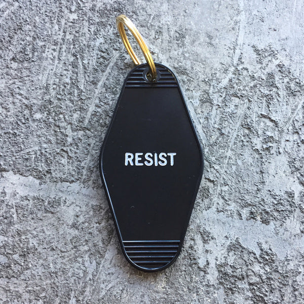 Seconds Sale: Resist Key Tag in Black