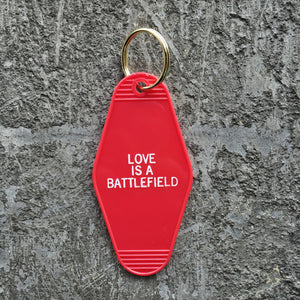 Key Tag - Love Is A Battlefield in Red