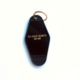 Twin Peaks Fix Your Hearts or Die Motel Key Fob in Black and Gold