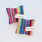 Organic Lavender Sachets in Rainbow Serape Cotton - Set of 2