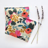 Organic Lavender Sachets in Rosa Floral Canvas - Set of 2