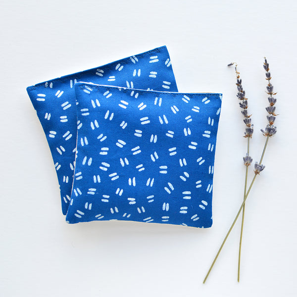 Organic Lavender Sachets in Double Dash Indigo - Set of 2